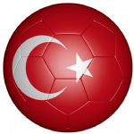 Turkey Football Flag 58mm Button Badge